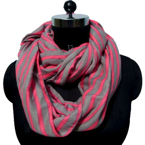 NEON STRIP SNOOD SCARF